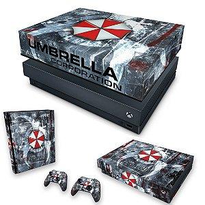 KIT Xbox One X Skin e Capa Anti Poeira - Resident Evil