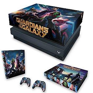 KIT Xbox One X Skin e Capa Anti Poeira - Guardiões da Galaxia