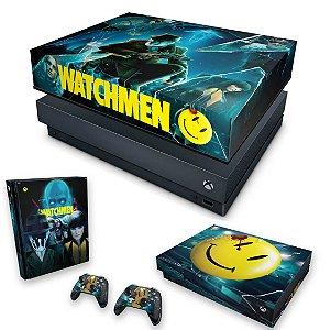 KIT Xbox One X Skin e Capa Anti Poeira - Watchmen