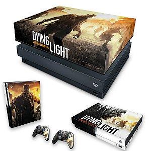 KIT Xbox One X Skin e Capa Anti Poeira - Dying Light