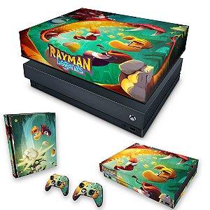 KIT Xbox One X Skin e Capa Anti Poeira - Rayman Legends