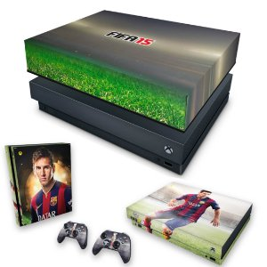 KIT Xbox One X Skin e Capa Anti Poeira - FIFA 15