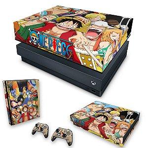 KIT Xbox One X Skin e Capa Anti Poeira - One Piece