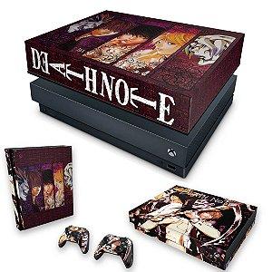KIT Xbox One X Skin e Capa Anti Poeira - Death Note