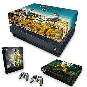 KIT Xbox One X Skin e Capa Anti Poeira - Breaking Bad
