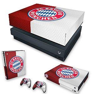KIT Xbox One X Skin e Capa Anti Poeira - Bayern de Munique