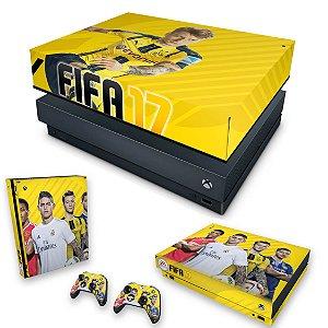 KIT Xbox One X Skin e Capa Anti Poeira - FIFA 17