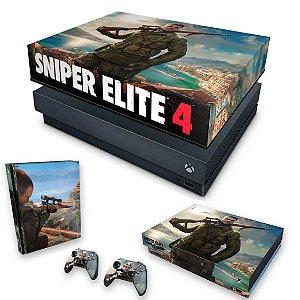 KIT Xbox One X Skin e Capa Anti Poeira - Sniper Elite 4