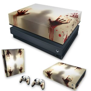 KIT Xbox One X Skin e Capa Anti Poeira - Fear The Walking Dead