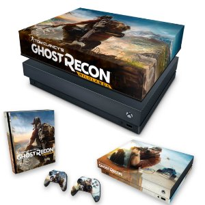 KIT Xbox One X Skin e Capa Anti Poeira - Ghost Recon Wildlands