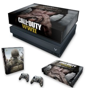 KIT Xbox One X Skin e Capa Anti Poeira - Call of Duty WW2