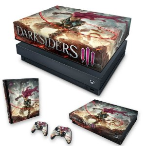KIT Xbox One X Skin e Capa Anti Poeira - Darksiders 3