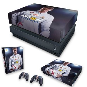 KIT Xbox One X Skin e Capa Anti Poeira - FIFA 18