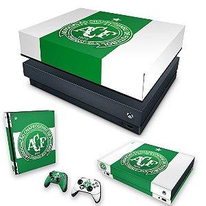 KIT Xbox One X Skin e Capa Anti Poeira - Chapecoense Chape