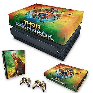 KIT Xbox One X Skin e Capa Anti Poeira - Thor Ragnarok