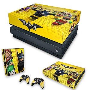 KIT Xbox One X Skin e Capa Anti Poeira - Lego Batman
