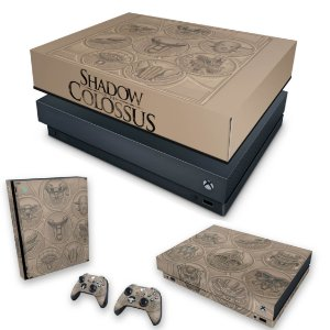KIT Xbox One X Skin e Capa Anti Poeira - Shadow Of The Colossus