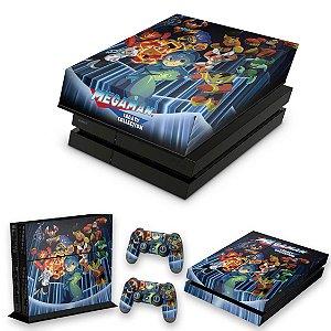 KIT PS4 Fat Skin e Capa Anti Poeira - Megaman Legacy Collection