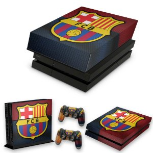 KIT PS4 Fat Skin e Capa Anti Poeira - Barcelona