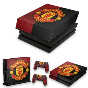 KIT PS4 Fat Skin e Capa Anti Poeira - Manchester United