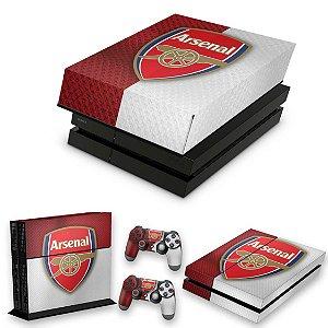 KIT PS4 Fat Skin e Capa Anti Poeira - Arsenal