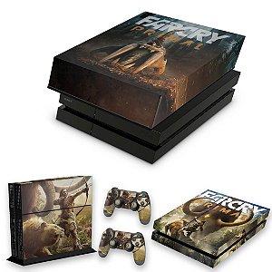 KIT PS4 Fat Skin e Capa Anti Poeira - Far Cry Primal