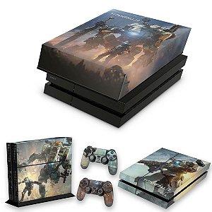 KIT PS4 Fat Skin e Capa Anti Poeira - Titanfall 2 #B