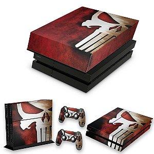 KIT PS4 Fat Skin e Capa Anti Poeira - The Punisher Justiceiro