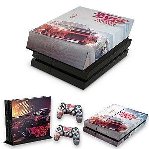 KIT PS4 Fat Skin e Capa Anti Poeira - Need For Speed Payback