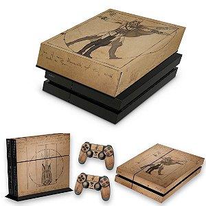 KIT PS4 Fat Skin e Capa Anti Poeira - Assassin'S Creed Vitruviano