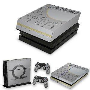 KIT PS4 Fat Skin e Capa Anti Poeira - God Of War Limited Edition
