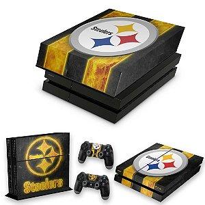 KIT PS4 Fat Skin e Capa Anti Poeira - Pittsburgh Steelers - Nfl