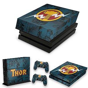 KIT PS4 Fat Skin e Capa Anti Poeira - Thor Comics