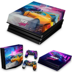 KIT PS4 Pro Skin e Capa Anti Poeira - Need For Speed Heat