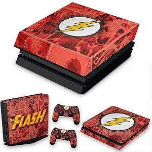 KIT PS4 Slim Skin e Capa Anti Poeira - The Flash Comics