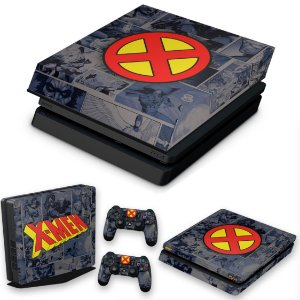 KIT PS4 Slim Skin e Capa Anti Poeira - X-Men Comics