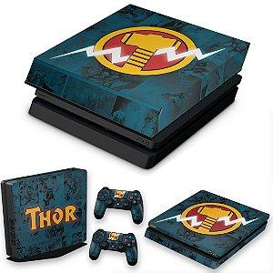 KIT PS4 Slim Skin e Capa Anti Poeira - Thor Comics