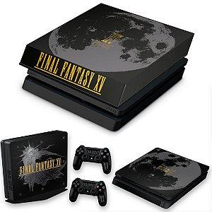 KIT PS4 Slim Skin e Capa Anti Poeira - Final Fantasy Xv Bundle