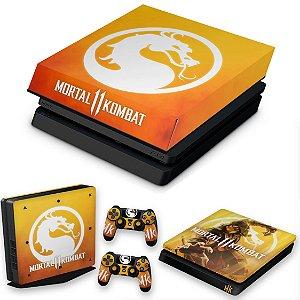KIT PS4 Slim Skin e Capa Anti Poeira - Mortal Kombat 11