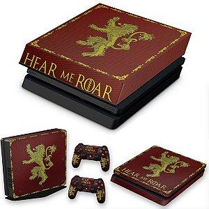 KIT PS4 Slim Skin e Capa Anti Poeira - Game Of Thrones Lannister