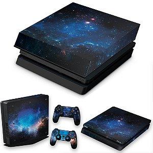 KIT PS4 Slim Skin e Capa Anti Poeira - Universo Cosmos