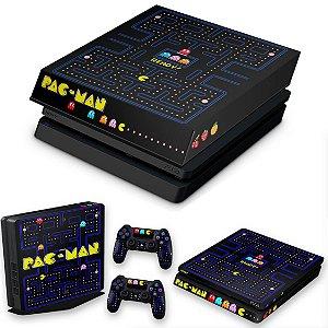 KIT PS4 Slim Skin e Capa Anti Poeira - Pac Man
