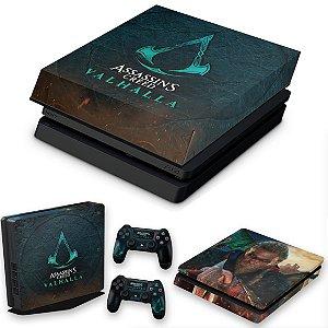 KIT PS4 Slim Skin e Capa Anti Poeira - Assassin'S Creed Valhalla