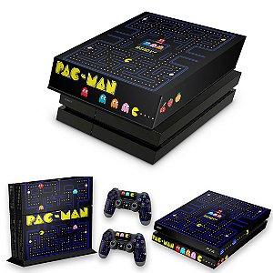 KIT PS4 Fat Skin e Capa Anti Poeira - Pac Man
