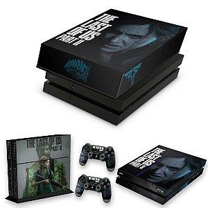 KIT PS4 Fat Skin e Capa Anti Poeira - The Last Of Us Part 2 Ii B