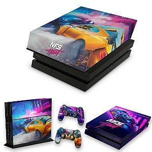 KIT PS4 Fat Skin e Capa Anti Poeira - Need For Speed Heat