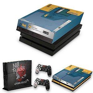 KIT PS4 Fat Skin e Capa Anti Poeira - Cyberpunk 2077 Bundle