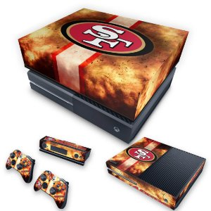 KIT Xbox One Fat Skin e Capa Anti Poeira - San Francisco 49ers - NFL