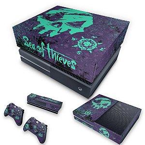 KIT Xbox One Fat Skin e Capa Anti Poeira - Sea Of Thieves Bundle