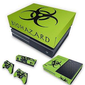 KIT Xbox One Fat Skin e Capa Anti Poeira - Biohazard Radioativo